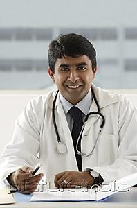PictureIndia - portrait of smiling doctor