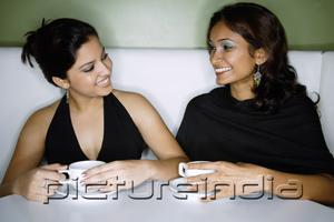 PictureIndia - Two women sitting side by side having tea